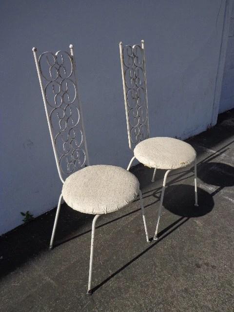 Arthur Umanoff Grenada Chairs Pair Mid Century Modern Patio Chair Furniture Hollywood Regency