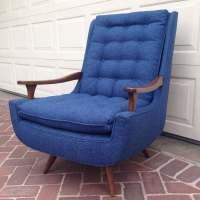 Mid Century Modern Swivel Rocking Lounge Chair  NEW ...