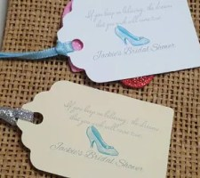 Personalized Cinderella Favor Tags | Disney Wedding