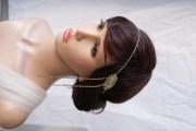 1920s wedding headpiece gold art