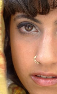 Half moon Nose Ring Gold nose ring gold septum nostril