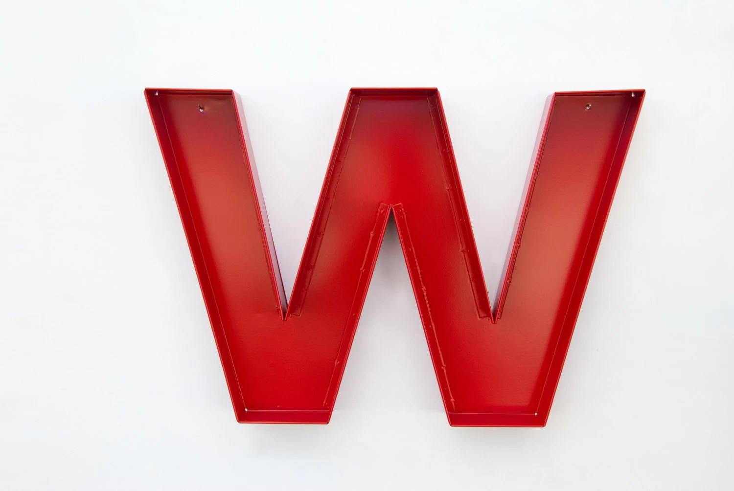Wall Letter W Sign Letter Wall Decor Metal Letters By
