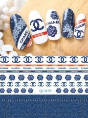 chanel inspired nail decals water