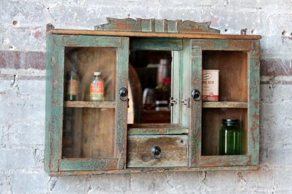 Hanging Cabinet Spice Rack Medicine Cabinet Boho Chic