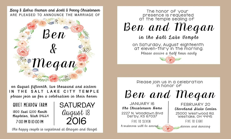 Lds Wedding Invitations