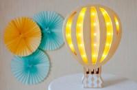 Hot Air Balloon Nursery decor Night light Baby lamp Baby