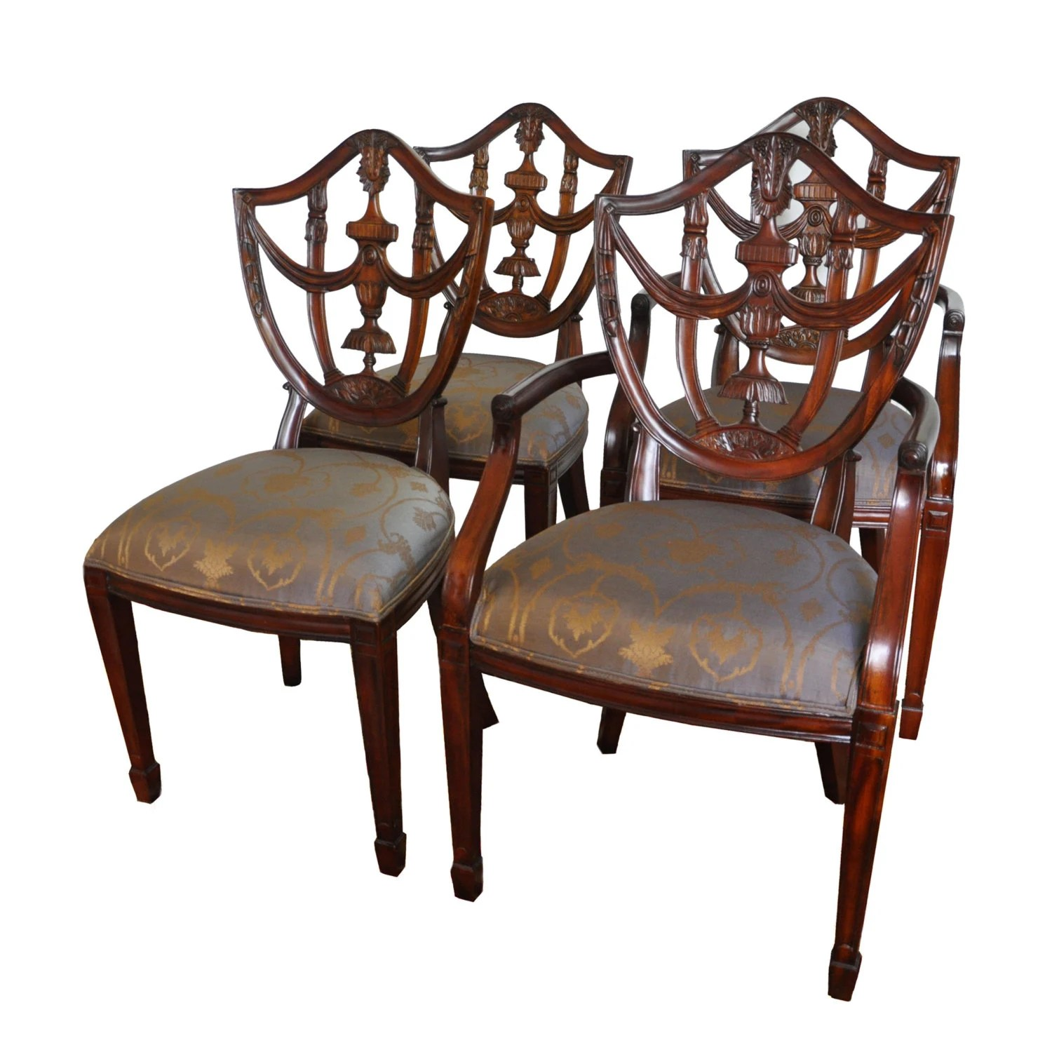 maitland smith dining chairs leather of bath review mahogany shield back side