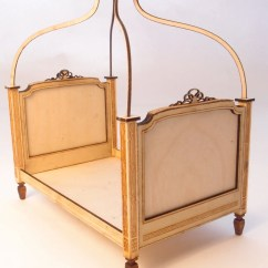 French Canopy Chair Mid Century Barrel Dining 1 24 Scale Miniature Dollhouse Furniture Kit Bed