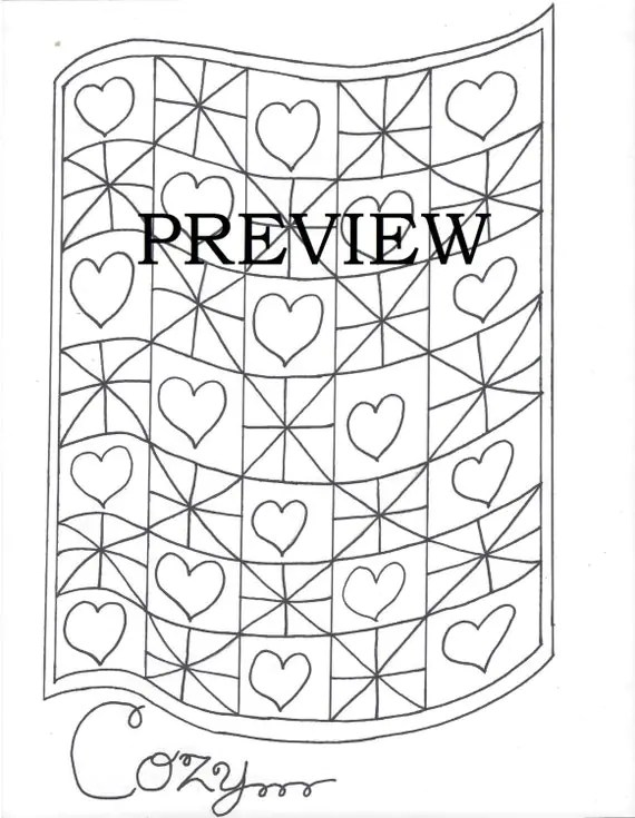 Simple Quilt Pages Coloring Pages