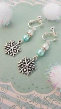Snowflake Clip On Earrings Childrens Earrings by ...