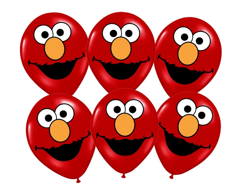 Elmo Printables For Balloons Instant Download Elmo Sesame Street Party Decorations Elmo