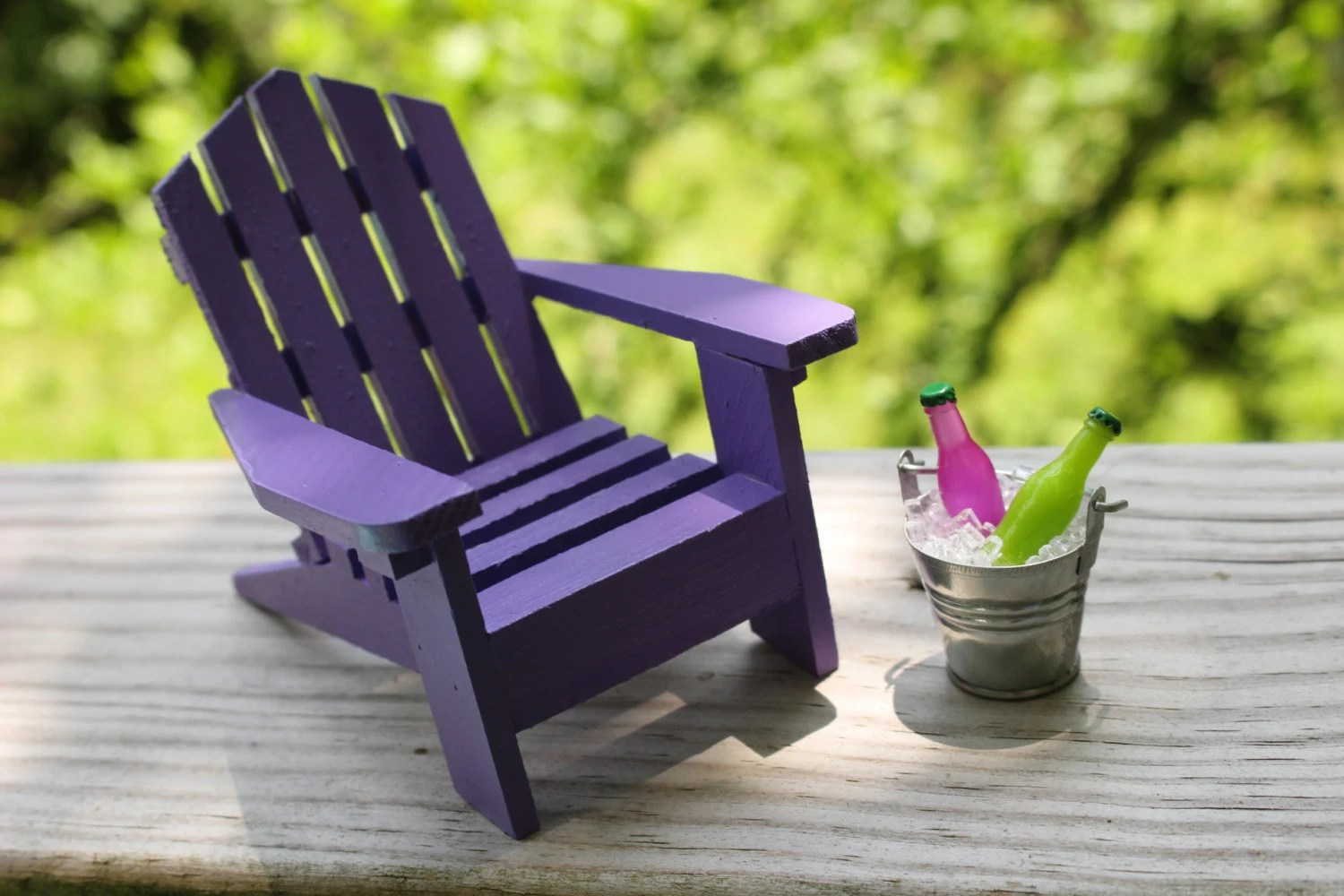 Mini Adirondack Chairs 1 Miniature Adirondack Chair Beach Chair Tin Bucket Ice