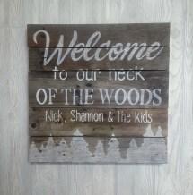 Hand Painted Wood Pallet Sign Cabin Signaturestatement