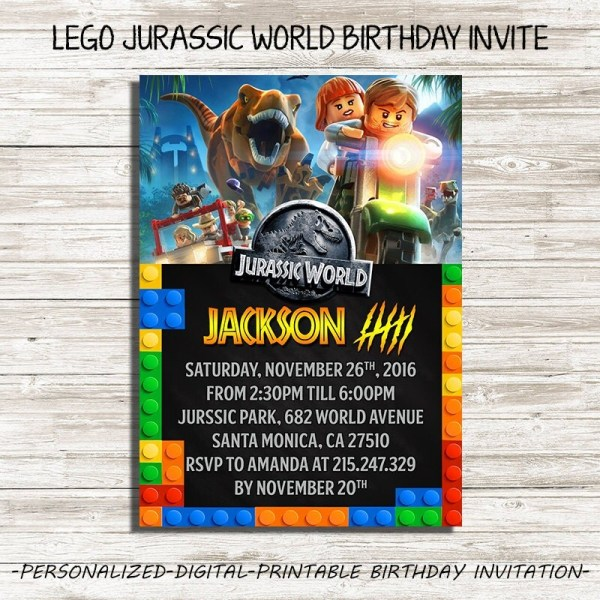 Free Birthday Invitations Jurassic World