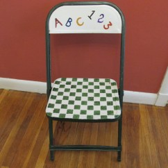 Folding Chair Upcycle Roman Workout Abs Metal Upcycled Child Size Time By