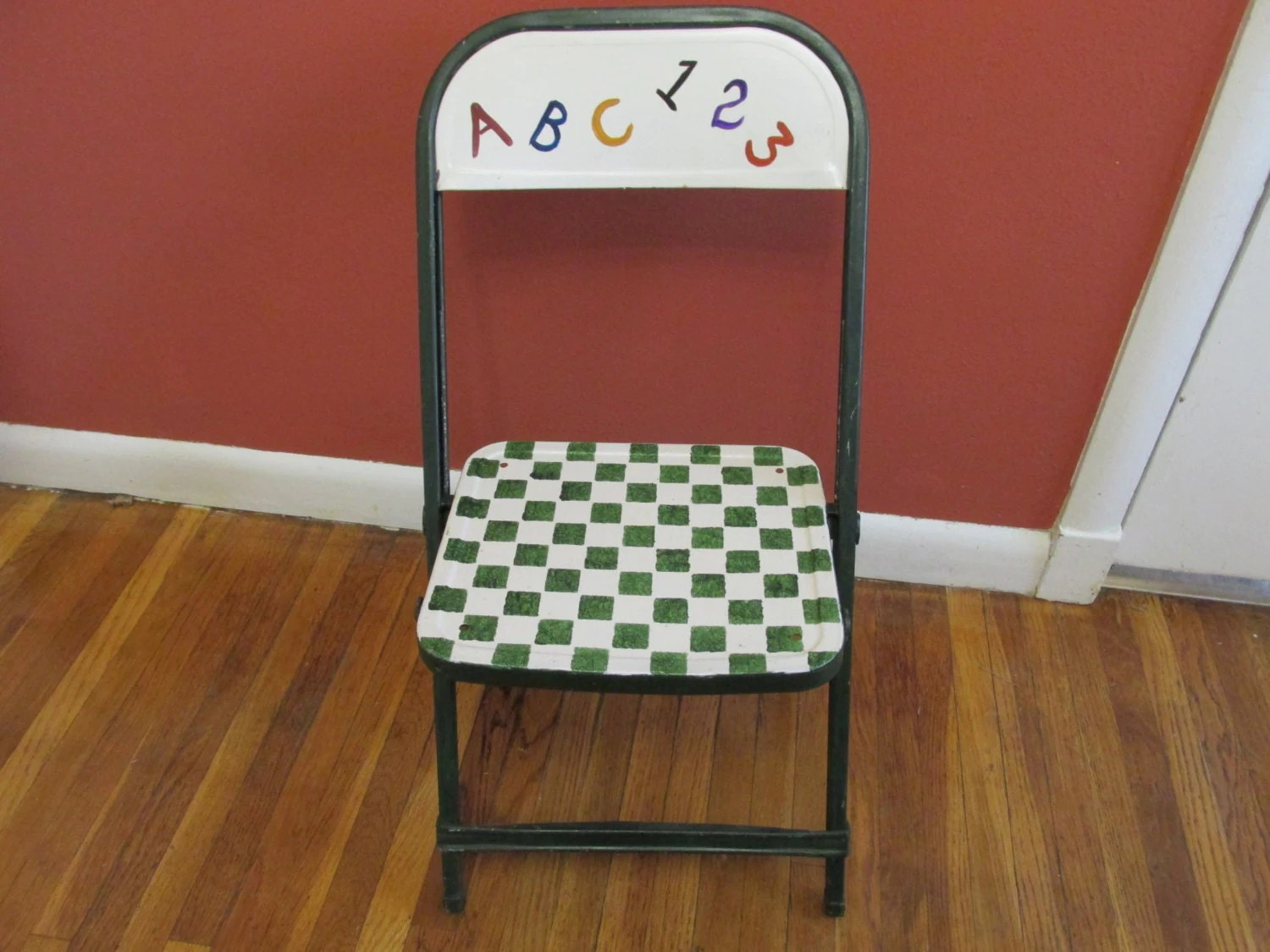 folding chair upcycle ergonomic knee rest metal upcycled child size time by