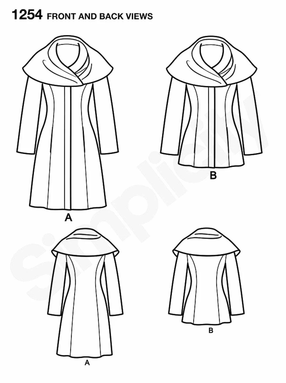 Easy Lined Coat or Jacket Pattern Hooded Coat or Jacket by