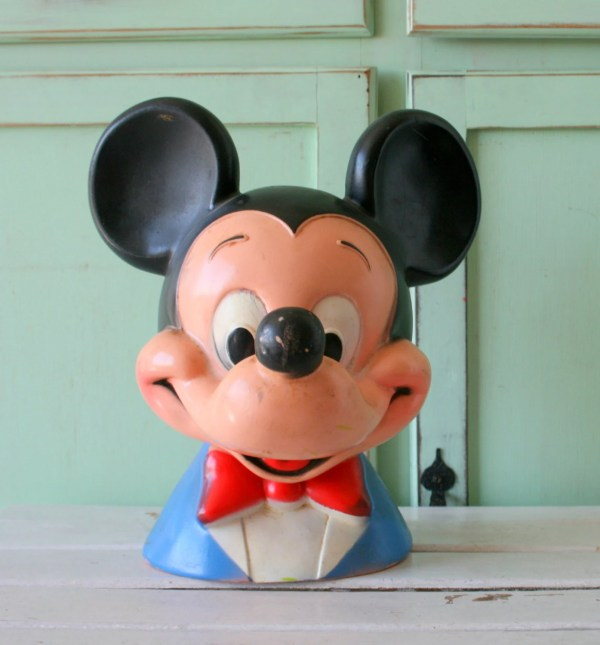 Vintage Mickey Mouse Bank.kitsch. Walt Disney. Retro. Kids