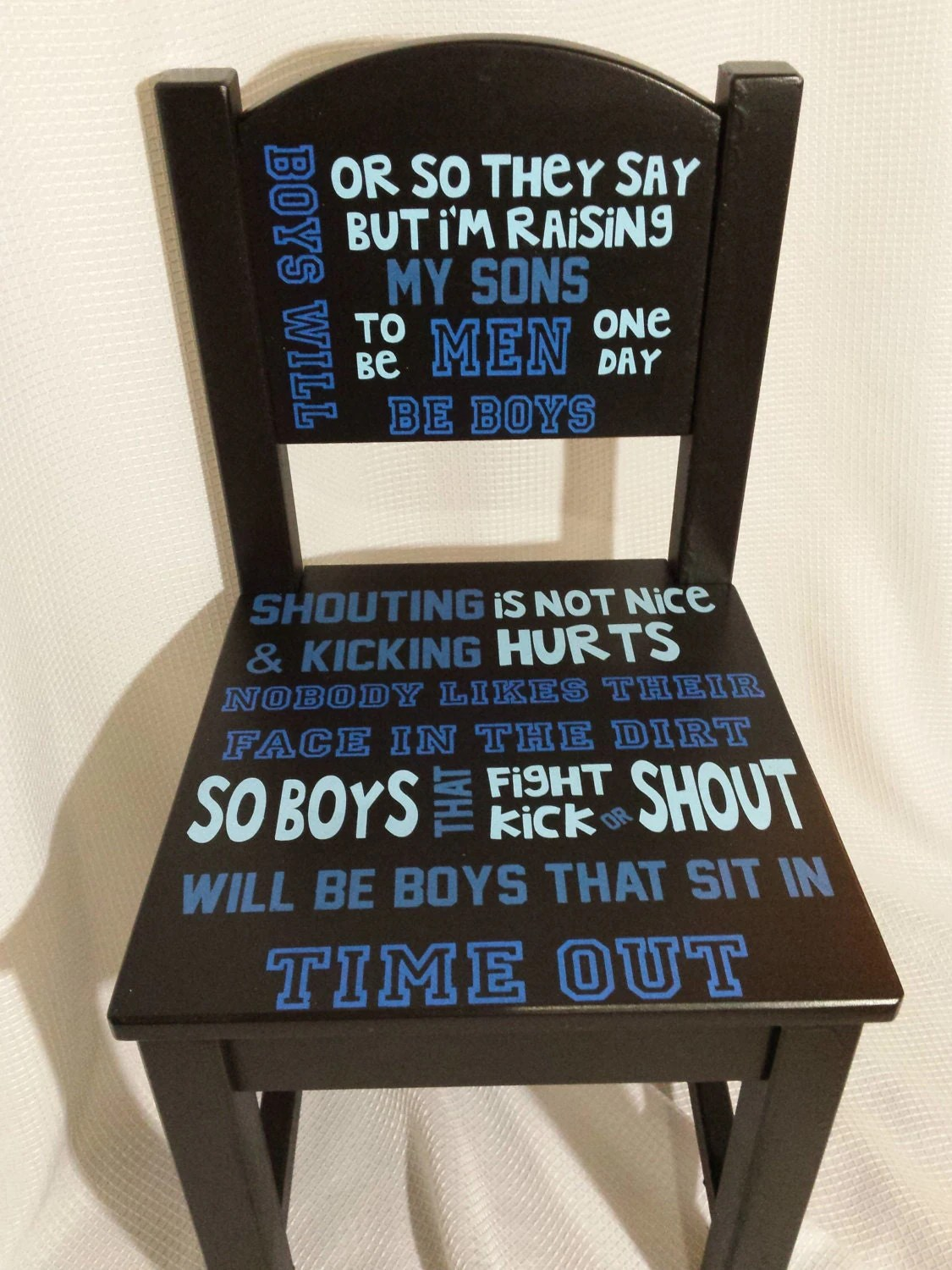 Personalized Time Out Chair Boy FREE SHIPPING