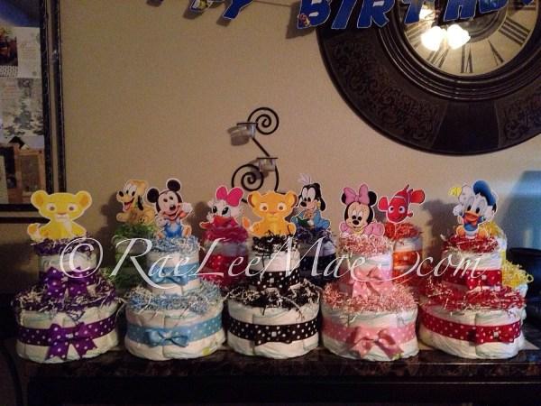 Disney Baby Shower Centerpieces