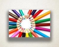 Colored Pencils Canvas Art Colored Pencil Photograph Wall