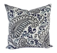 Two Pillow Covers Blue Grey and Brown Throw by ...