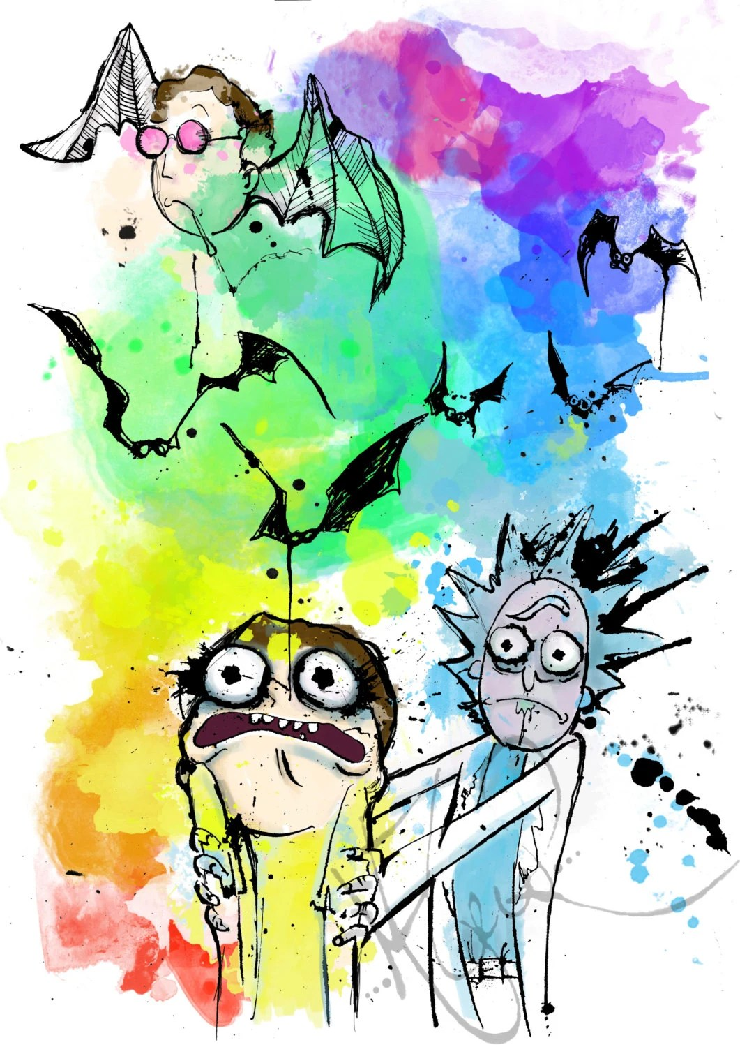 Fear And Loathing In Las Vegas Wallpaper Quote Rick And Morty In Las Vegas A4 Art Print