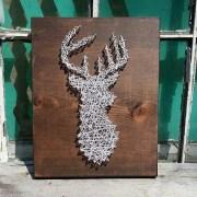 string art deer silhouette