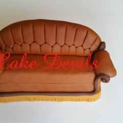 Friends Sofa Replica Lowes Couch Cake Topper Fondant Handmade Edible