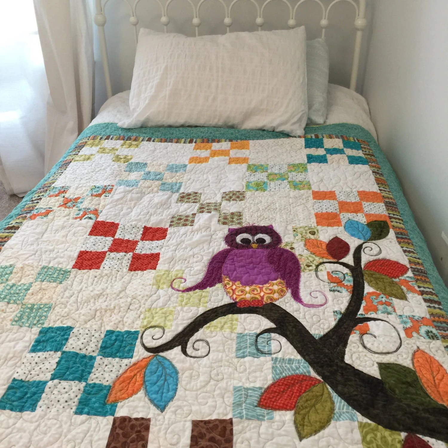 Baby Quilt Pattern PDF  Owl Quilt Pattern PDF by