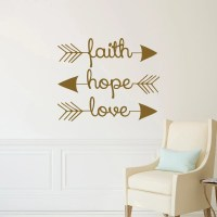 Faith Hope Love Wall Decal Arrow Wall Decal Arrow Wall