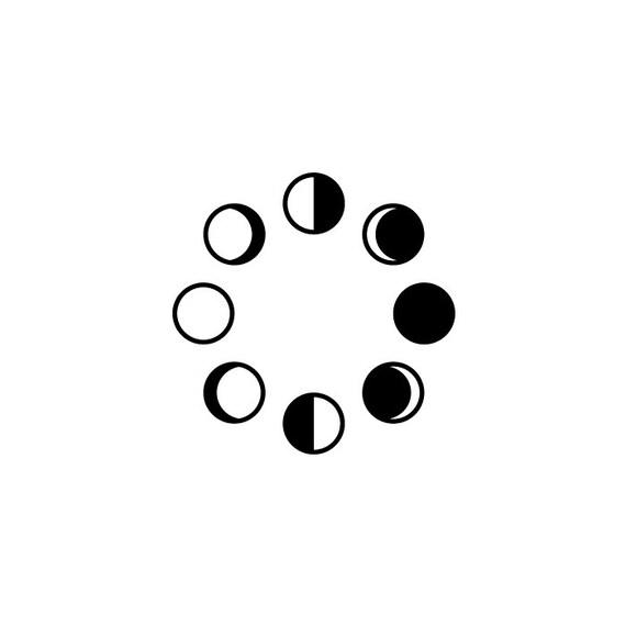 Items similar to Set of 8 Tiny Moon phases Tattoo