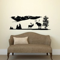 Deer Wall Decal Country Wall Decal Forest Wall Decal by ...