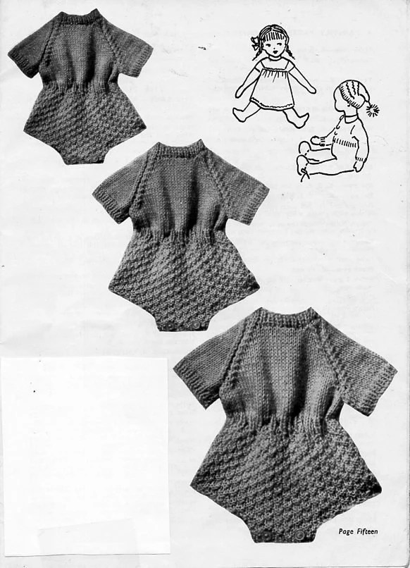 Items similar to Faith pdf doll clothes knitting pattern