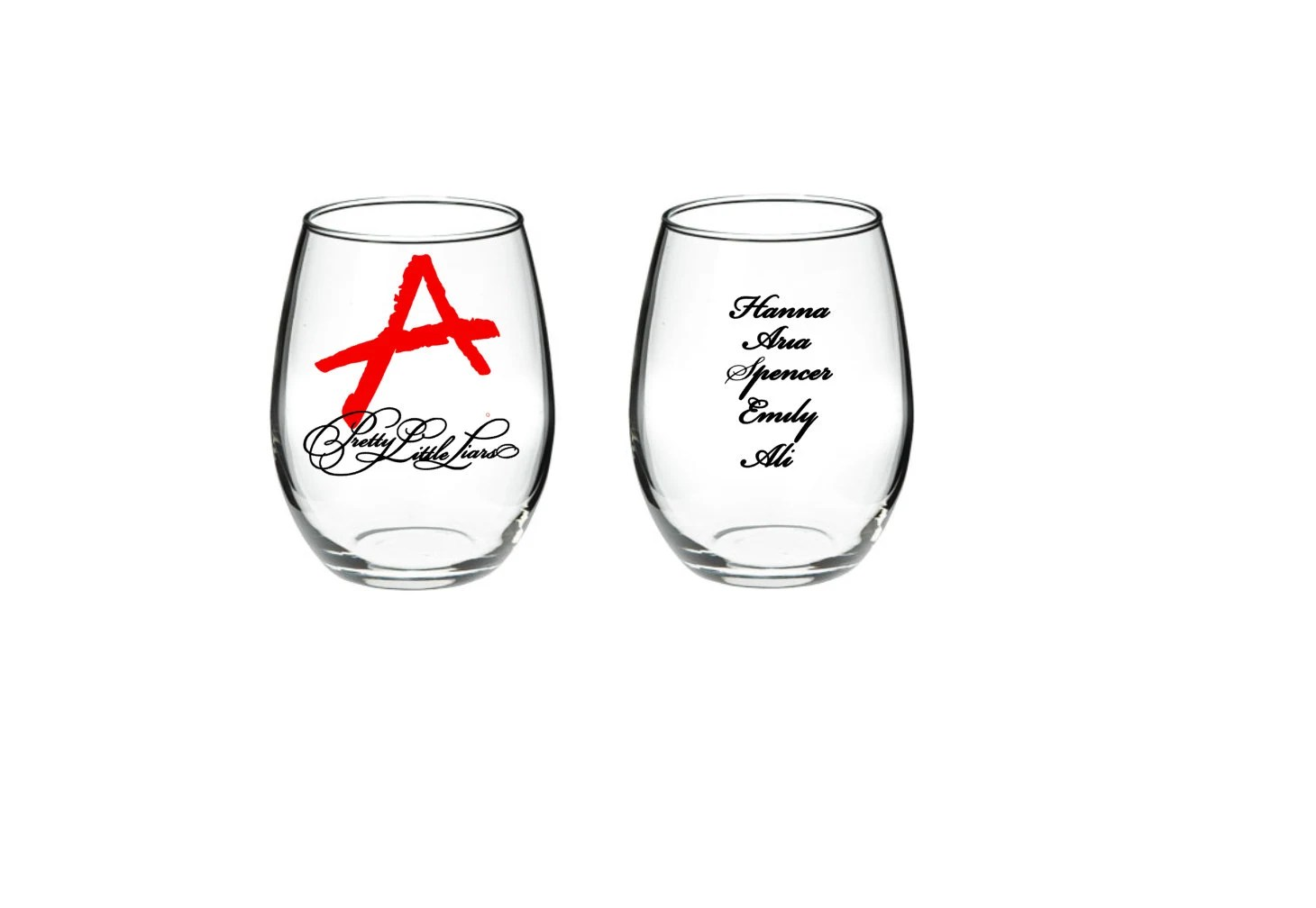 Pretty Little Liars A 15 or 21 oz stemless by