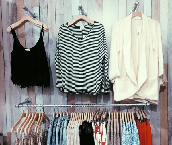 Wall Mount Clothing Display