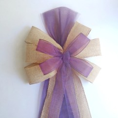 Burlap Bows For Wedding Chairs Toddler Chair Bed Plum Eggplant Pew Decorations