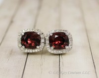 Burgundy earrings | Etsy