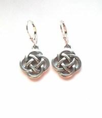 Silver Celtic Knot Earrings Celtic Earrings Irish Earrings