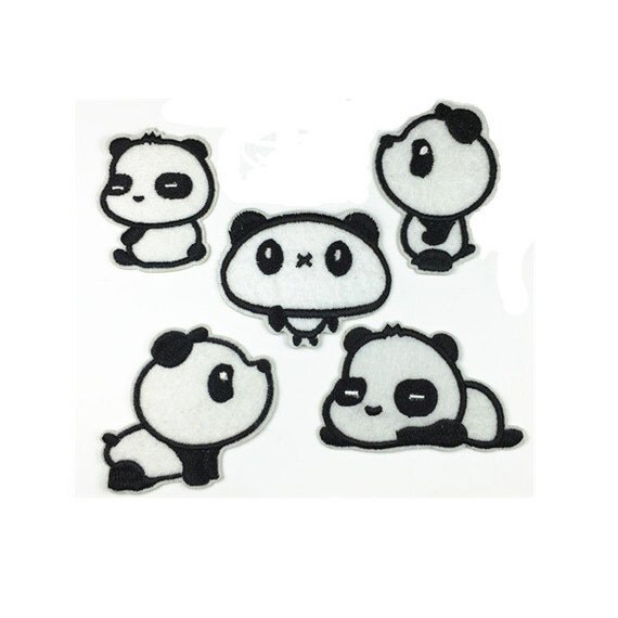 Patch ferro patch panda svegli / cucire sulle patch