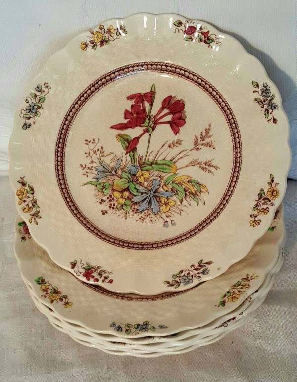 Copeland Spode England Rosalie Bread And Butter Plate Vintage