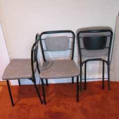 Folding Chair Legs Henredon Arabesque Dining Chairs Vintage Hamilton Cosco Set Of 3 Gate Leg Fold