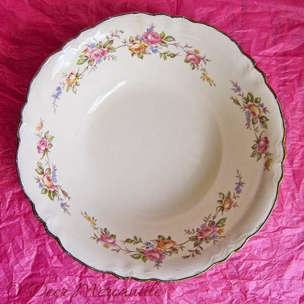 Vintage Serving Bowl Homer Laughlin China Virginia Rose