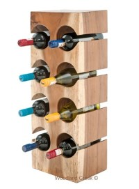 Wood Block Wine Bottle Holder