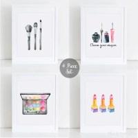 4 Piece Makeup Set Printable Makeup Wall Art Teen Wall