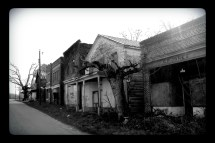 Abandoned Street Union Level Ghost Town Black & White