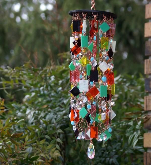 Retro Stained Glass Colored Unique Wind Chimes