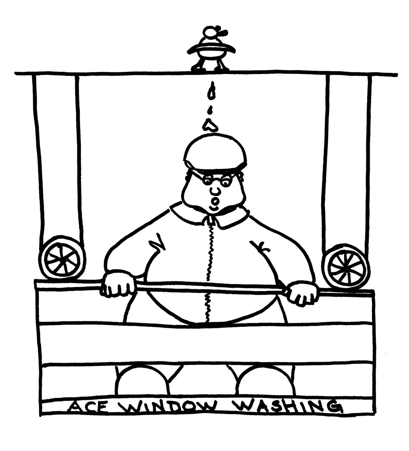 On the Job Funny Coloring Pages for Adults from the Chubby