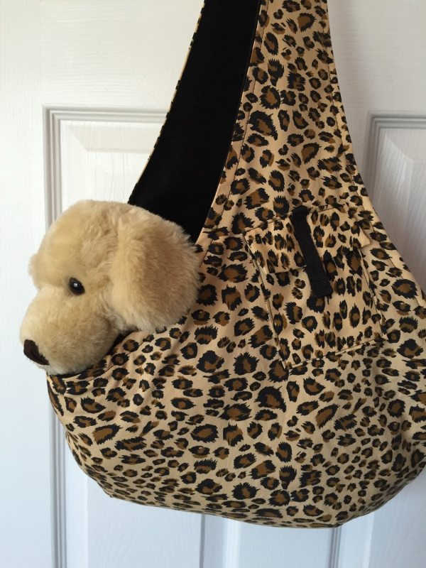 Comfort Dog Carrier Sling Reversible Leopard Combo