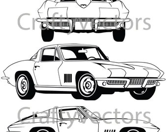 Hot Rod Cars SVG vector files
